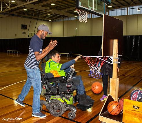 WA iSports Member at basketball