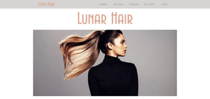 Salon Pastel Wix Website Template
