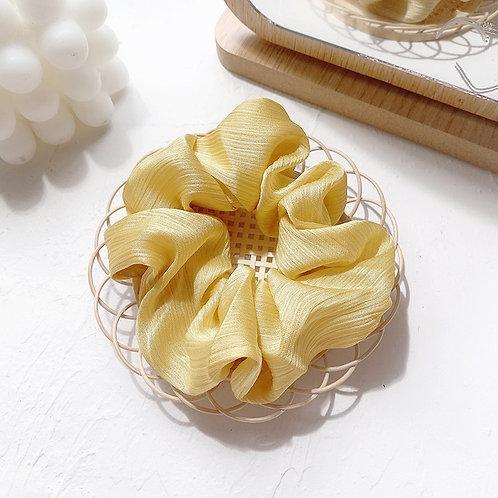Chiffon Goose Yellow Scrunchie