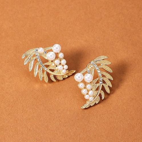 Leaf & Pearl Earring