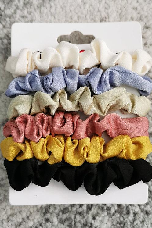 5 pack Skinny Scrunchies