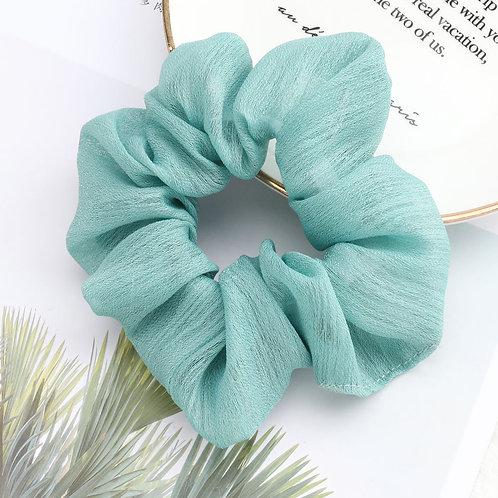 Chiffon Green Scrunchie