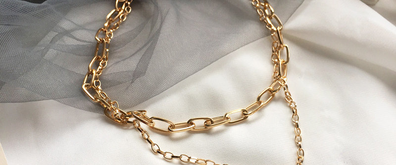 T-Bar Gold Necklace