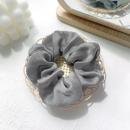 Chiffon Grey Scrunchie