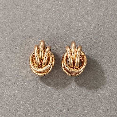 Knot Gold Earring