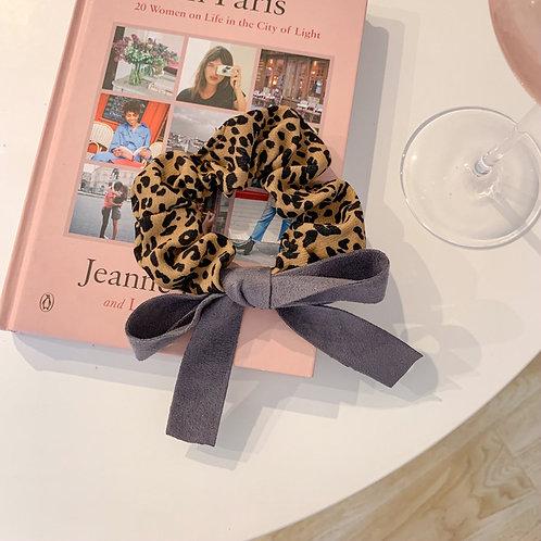 Leopard Coffee Scrunchie