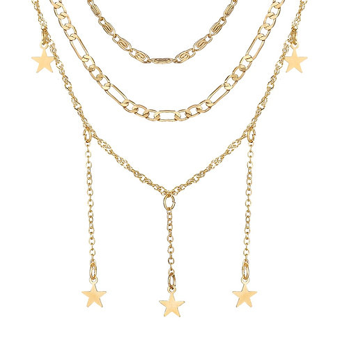Multi Layer Star Necklace