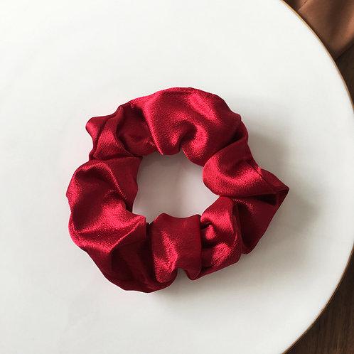 Satin Red Scrunchie