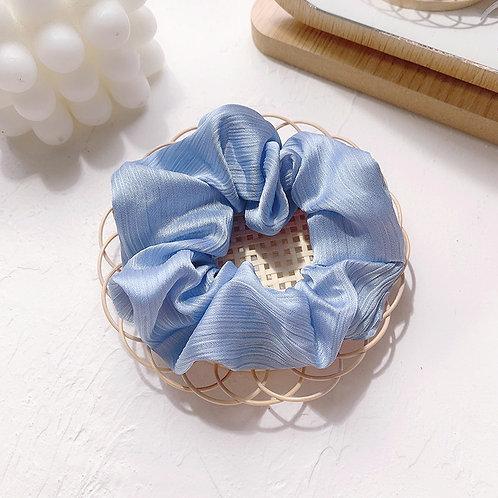 Chiffon Pale Blue Scrunchie
