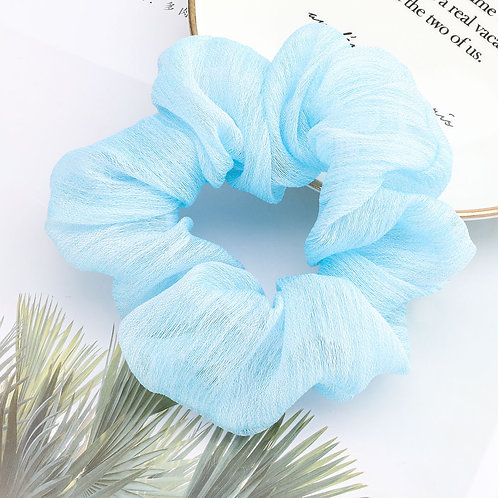 Chiffon Blue Scrunchie