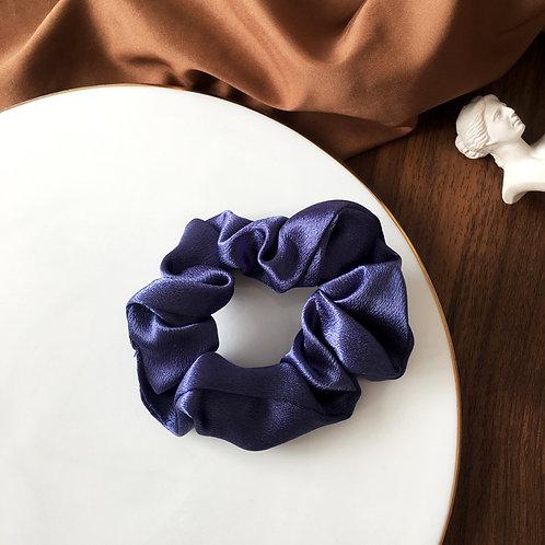 Satin Navy Blue Scrunchie