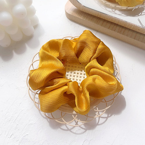 Chiffon Yellow Scrunchie