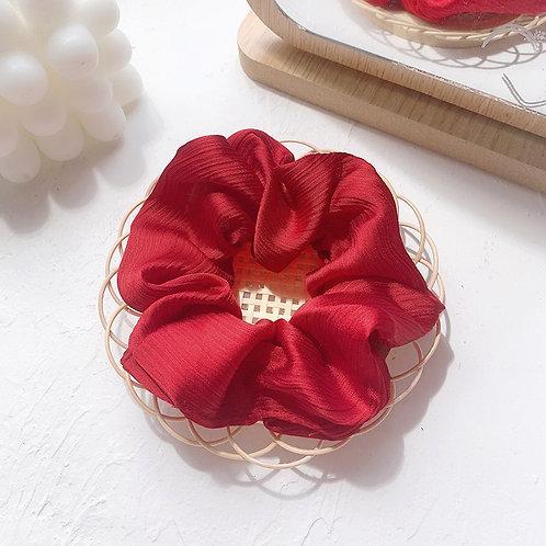 Chiffon Red Scrunchie