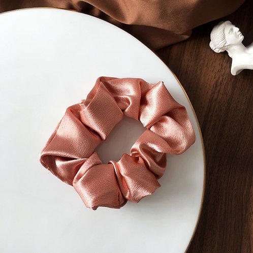 Satin Pink Scrunchie