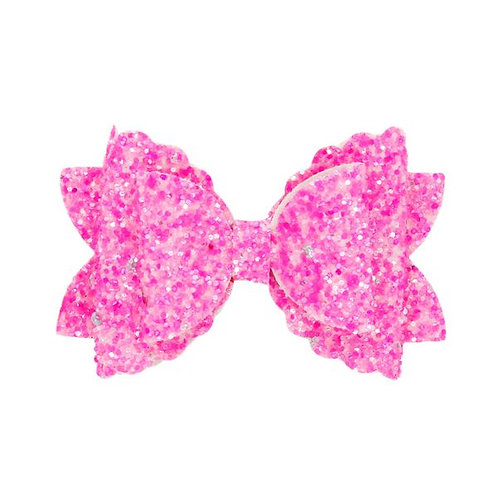 Red Rose Glitter Bow