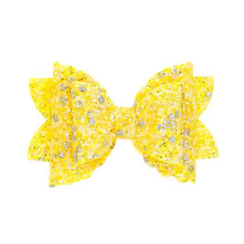 Yellow Glitter Bow