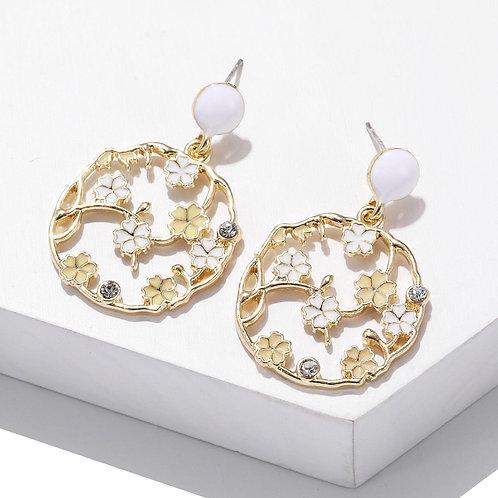 Tilia White Earring