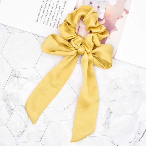 Satin Tie Scrunchie Yellow