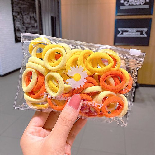 Yellow Towel Ring Bobbles 50pk