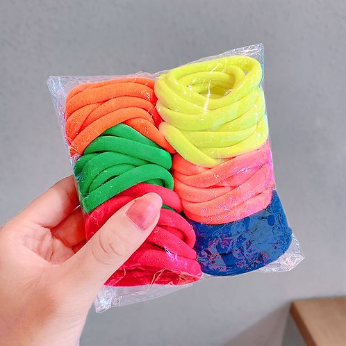 Neon Towel Ring Bobbles 50pk
