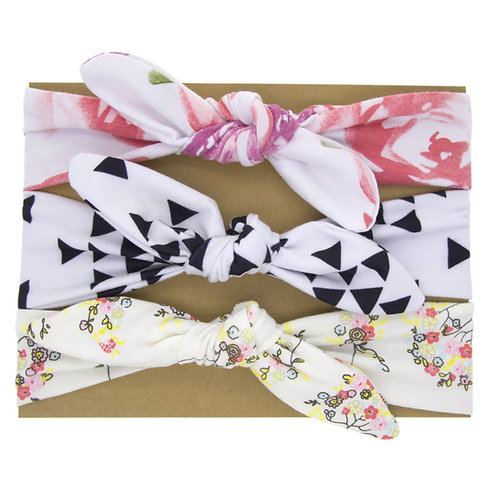 Hairband Pack Pink Floral