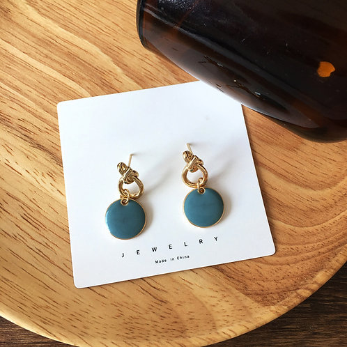 Delia Teal Earring
