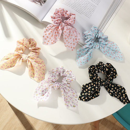 Holly Ditsy Floral Scrunchie