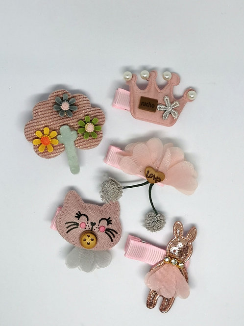 TuTu Pink 5pk Clips