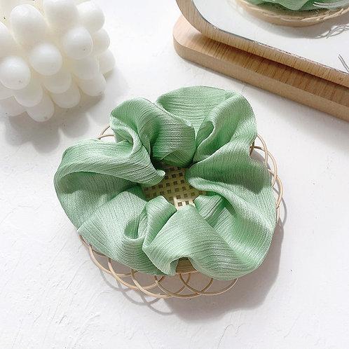 Chiffon Water Green Scrunchie
