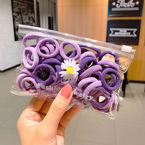 Purple Towel Ring Bobbles 50pk