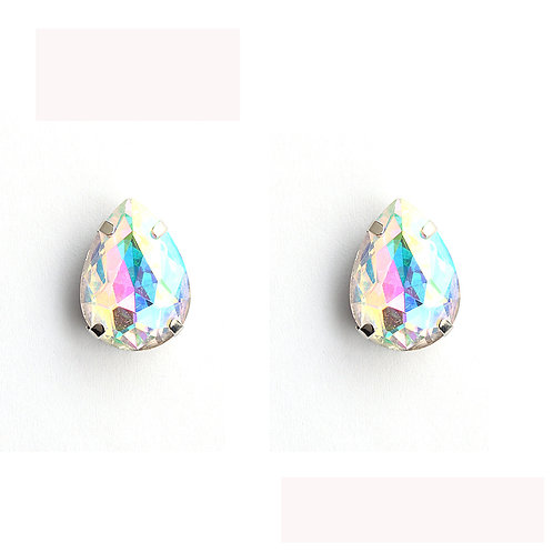 Crystal Mermaid Pear Stud