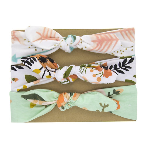 Hairband Pack Sage Floral
