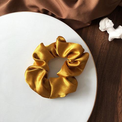Satin Mustard Scrunchie