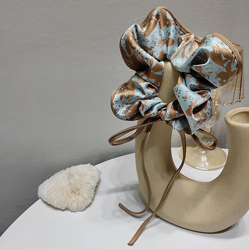 Luxe Blue Scrunchie