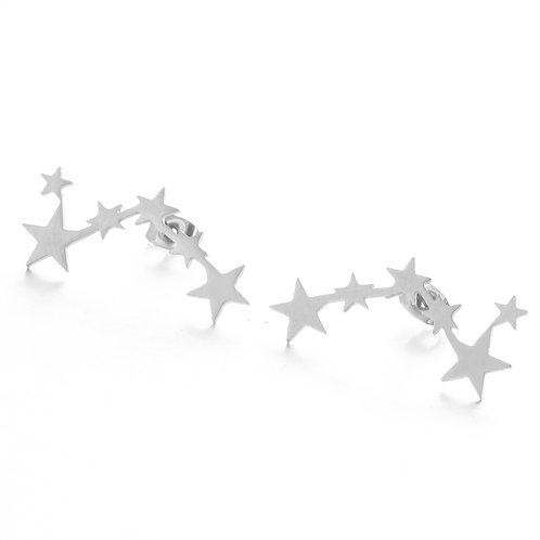 Star Silver Earrings