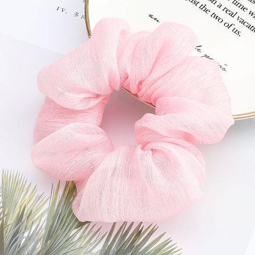 Chiffon Pink Scrunchie