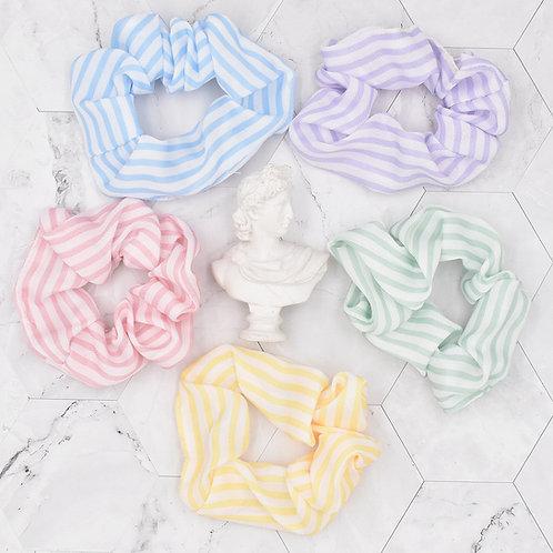 Candy Stripe 5pk Scrunchies