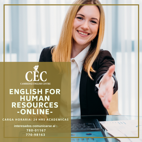 English For Human Resources ONLINE