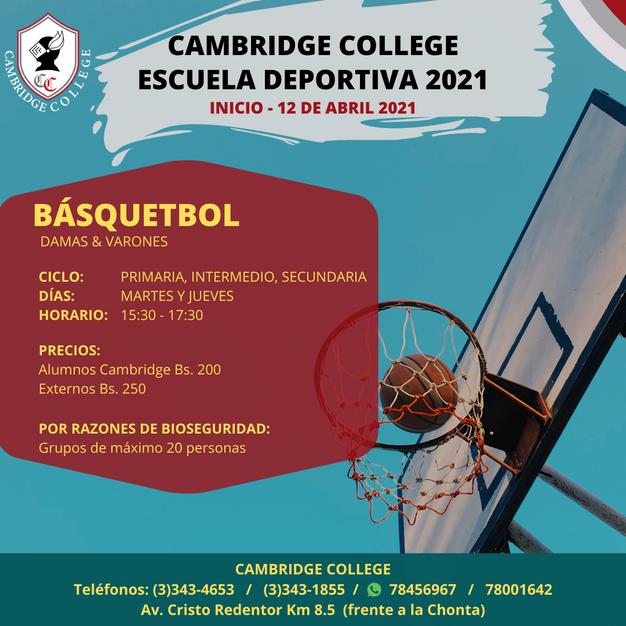 Basquetbol - Escuela Deportiva Cambridge