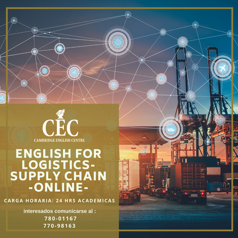 English for Logistics Supply Chain ONLINE