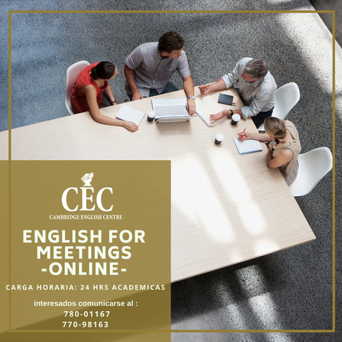 English for Meetings ONLINE