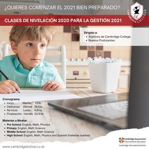CLASES DE NIVELACIÓN 2020