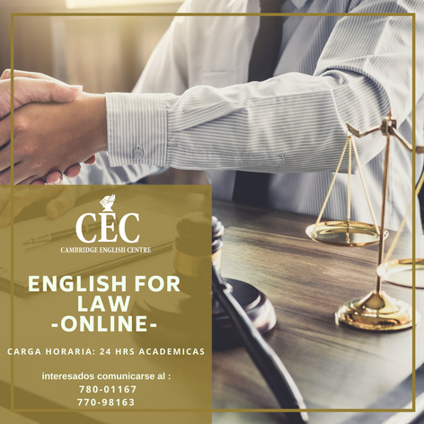 English for Law ONLINE