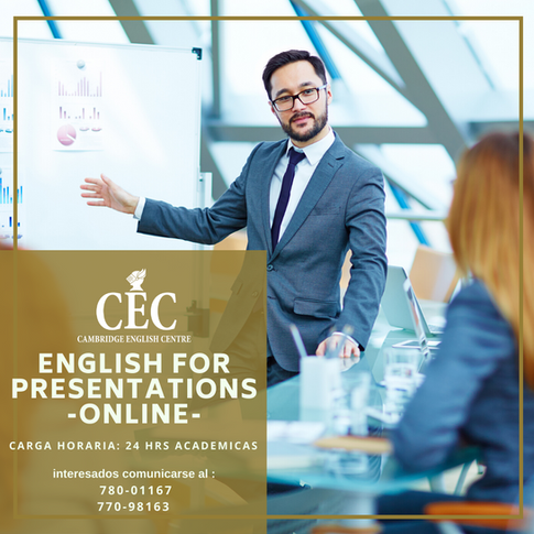 English for Presentations ONLINE