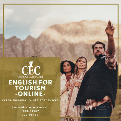 English for Tourism ONLINE