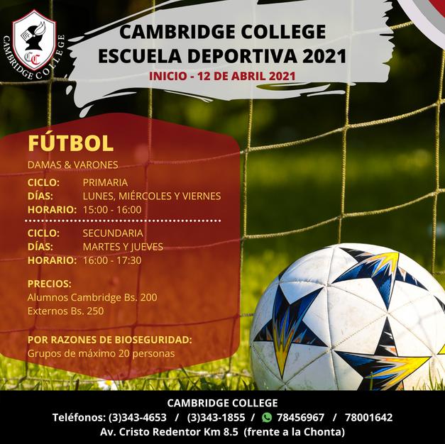 Fútbol - Escuela Deportiva Cambridge