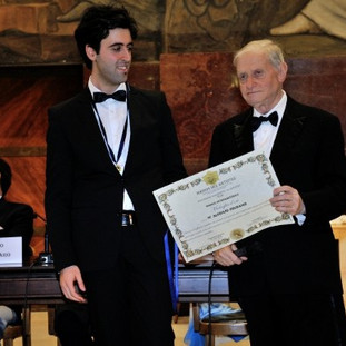 "International Gold Medal Award as Best Artist 2013 in Rome at University ""La Sapienza"""
