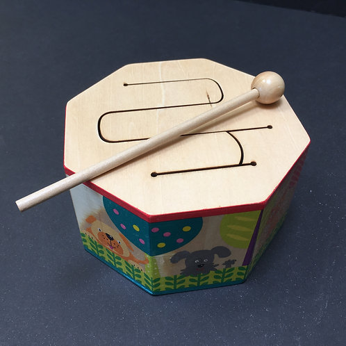 Wood Drum with Mallet