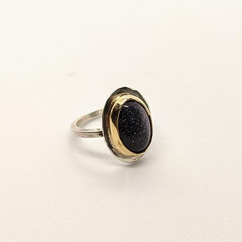 Sparkling Goldstone Ring