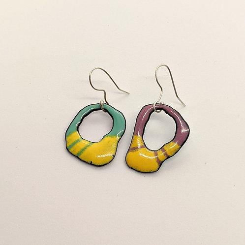 Droopy Enamel Earrings